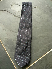 PAUL SMITH 100% Silk - dots and floral TIE with blue polka lining   - 9cm Blade
