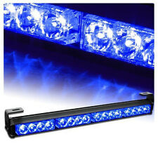 4X4 LED Emergency Warning Light Bar Traffic Advisor Vehicle Strobe Lamp Blue