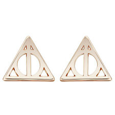 Punk Jewelry Simple Deathly Hallows Luna Triangle Stud Earrings for Women