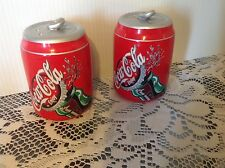 Coca Cola Ceramic Salt and Pepper Shakers, 3 inch tall