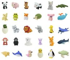 Original Iwako Japanese Eraser 30pcs of Animal Erasers Assorted made in Japan