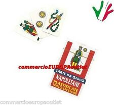 carte napoletane plastificate NEAPOLITAN DECK SCOPA Stock new