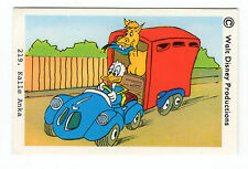 1970s Sweden Swedish Walt Disney Card - Donald Duck transporting horse.