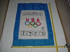 *RARE* Seoul 1988 Official Olympic Flag Banner 4' United States Olympic Commitee