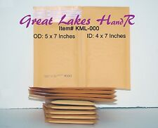 "52 (50+2) KML-000 Self-Sealing Gold Kraft Bubble Padded Env. Mailers  5"" x 7"" OD"