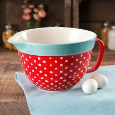 The Pioneer Woman Flea Market 2.83-Quart Batter Bowl with Decal Red Polkadot