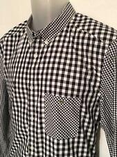 Lacoste Live Mens Shirt Long Sleeve Sz L Multicolored Check Button Front Cotton