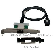 Amphenol MINI SAS 36 SFF-8087 to External SFF-8088 female with 2 bracket 0.4m