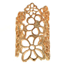 Fine Fashion Design Bohemian Style Golden Hollow Out Flower Ring Size