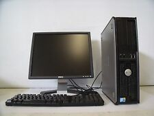 Dell Optiplex 780 2.93GHz 2GB DDR3 RAM 250GB HDD Windows 7 Pro With Dell Monitor