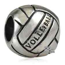 Authentic.925 SterlingSilverEuropean Style Fits PAN BRACELETS CHARM Volley Ball