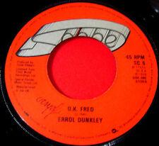 """Errol Dunkley OK/O.K Fred 7"""" UK RI'79 Reggae Scope bw Instrumental Version VINYL"""