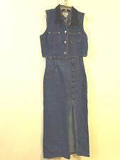 Vintage 80's Be Bop Clothing Denim Skirt & Sleeveless Vest 2 pc set Size 5 M