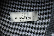 Bugatchi L Gentleman's Black & White Check All Cotton Long Sleeve Shirt