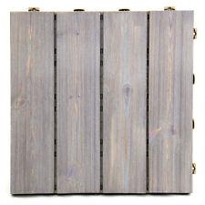 Piastrella in legno pavimento modulare 40x40cm giardino DECAP� GRIGIO PINO