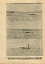 WWI Cuirassé Le Bouvet Bataille Dardanelles Gallipoli Campaign 1915 ILLUSTRATION