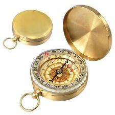 Klassiker messinggelber Kompass mit Aussehen wie Taschenuhr J5
