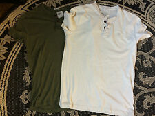 Lot of 2 casual short sleeve shirts Small Henleys Abercrombie and Fitch A&F NEW