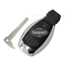 Smart Key Shell + Uncut Blank fit for Replace MERCEDES BENZ Remote Case Fob 3 BN