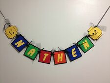 Lego Inspired Name Banner, Lego theme – Party Deco, Birthday