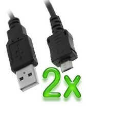 Micro USB Data Cable x2 for Samsung Galaxy Note, Note 2, S3, S4, S5, S3 Mini HTC