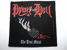 POWER FROM HELL THE TRUE METAL  WOVEN PATCH