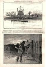 Work on Pedestal for the Statue of Liberty - Plague in Luzerne County, Pa. -1885