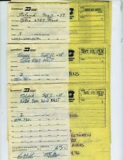 BURLINGTON NORTHERN RAILROAD TRAIN ORDERS (22) TOLAND (WALSHVILLE) ILLINOIS 1978