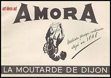 Publicité Moutarde de Dijon AMORA  vintage print ad   1948 - 8h