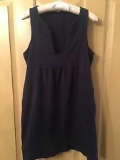 J CREW Navy Blue Casual Tank Beach Anytime Dress Cover Up Size Small S