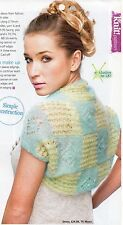 ~ Pull-Out Knitting Pattern For Lady's Pretty Little Mohair Shrug ~