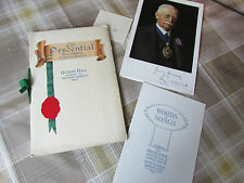 PRUDENTIAL Assurance Co 1925 ANNUAL Dinner Programme QUEENS Hall + Extras