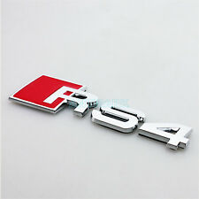 3D Alloy Metal Emblem For Audi RS4 Decals Car Sticker Chrome RS 4 Badge Logo