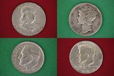 $7.00 Face Value Ben 1964 Ken Mercury Roosevelt Junk 90% Silver Coins