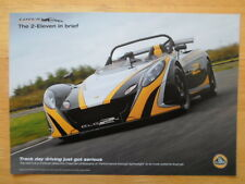 LOTUS 2 Eleven Leaflet Brochure 2009 - Track day driving just got serious