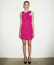 BNWT REISS Sassy Draped Bandage Bodycon Pencil Dress Fuschia Pink UK Size 6 £169