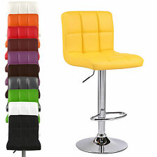 Cuban PU Faux Leather Breakfast Barstools Bar Stool Chair Chairs Swivel Seat Pub