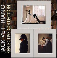 """""""una raccolta RIFLETTENTE"""" - Jack Vettriano Set di tre MONTATO stampa 2016 ©"""