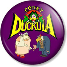 COUNT DUCKULA 25mm Pin Button Badge Old School Skool Cartoon Retro Kids TV 1980s