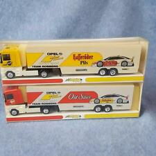 Minichamps 1:87 Model Team Rosberg Old Spice Truck Race Car Transporter Lot of 2