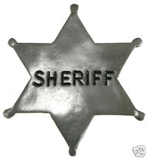 "1"" HAT PIN SHERIFF STAR OLD WEST PIN BADGE OBSELETE PB10 Made in USA"