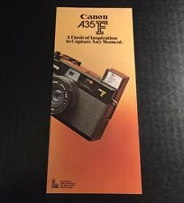Retro Vintage Canon A35F Rangefinder Film Camera - Genuine Retail Brochure