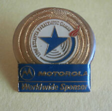 """Triumph of the Human Spirit"" Motorola Sponsor Paralympic Olympic Pin"