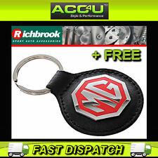 Richbrook MG Officiel Sous licence Cuir Noir MG Logo Voiture porte-clé