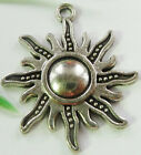 FREE SHIP 40pcs tibet silver flower Charms 28x25mm