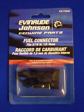 "NEW 0775640 Evinrude or Johnson Fuel line end connector  5/16"" ID HOSE"