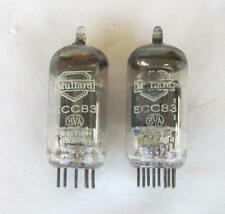 PAIR OF MULLARD ECC83 TUBES GR BRITAIN 1959 I61/B9J CODE SHORT PLATE RD. GETTER