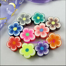 15Pcs Mixed Polymer Fimo Clay Flower Star Spacer Beads Charms 15mm