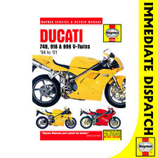 [3756] Ducati 748 916 996 4-Valve V-Twins 1994-2001 Haynes Workshop Manual
