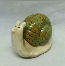 Snail Salt and Pepper Shakers Set Ceramic Snails Shaker Garden Shell Collectable
